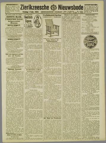 Zierikzeesche Nieuwsbode 1924-02-01