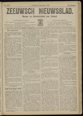 Ter Neuzensch Volksblad. Vrijzinnig nieuws- en advertentieblad voor Zeeuwsch- Vlaanderen / Zeeuwsch Nieuwsblad. Nieuws- en advertentieblad voor Zeeland 1918-09-28