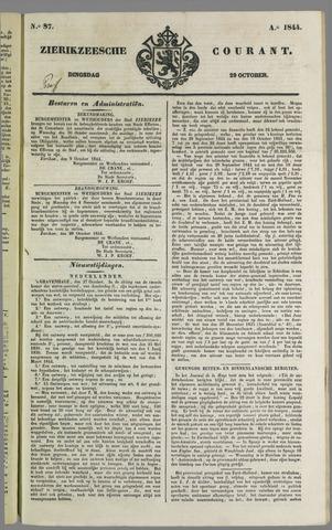 Zierikzeesche Courant 1844-10-29