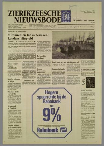 Zierikzeesche Nieuwsbode 1974-01-07