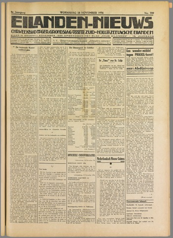 Eilanden-nieuws. Christelijk streekblad op gereformeerde grondslag 1936-11-18