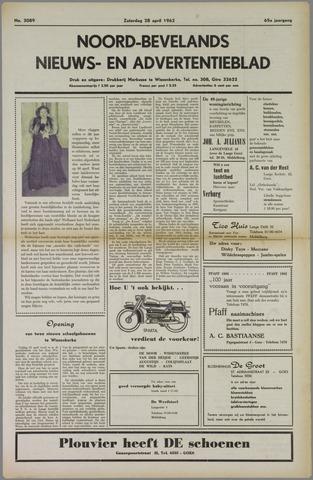 Noord-Bevelands Nieuws- en advertentieblad 1962-04-28