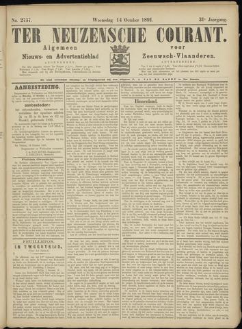 Ter Neuzensche Courant. Algemeen Nieuws- en Advertentieblad voor Zeeuwsch-Vlaanderen / Neuzensche Courant ... (idem) / (Algemeen) nieuws en advertentieblad voor Zeeuwsch-Vlaanderen 1891-10-14