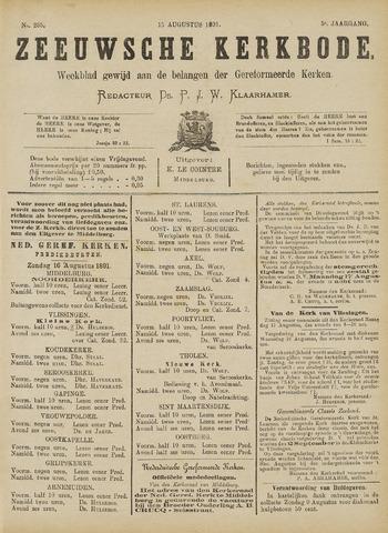 Zeeuwsche kerkbode, weekblad gewijd aan de belangen der gereformeerde kerken/ Zeeuwsch kerkblad 1891-08-15