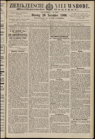 Zierikzeesche Nieuwsbode 1900-11-20