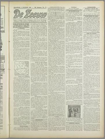 De Zeeuw. Christelijk-historisch nieuwsblad voor Zeeland 1944-01-03