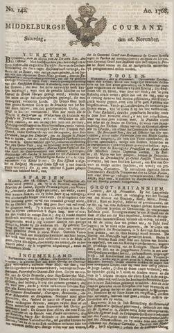 Middelburgsche Courant 1768-11-26