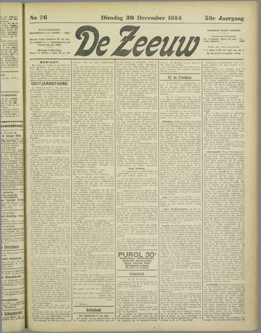 De Zeeuw. Christelijk-historisch nieuwsblad voor Zeeland 1924-12-30
