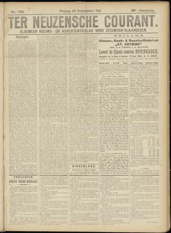 Ter Neuzensche Courant. Algemeen Nieuws- en Advertentieblad voor Zeeuwsch-Vlaanderen / Neuzensche Courant ... (idem) / (Algemeen) nieuws en advertentieblad voor Zeeuwsch-Vlaanderen 1921-09-23