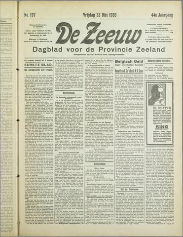 De Zeeuw. Christelijk-historisch nieuwsblad voor Zeeland 1930-05-23