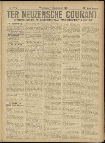 Ter Neuzensche Courant. Algemeen Nieuws- en Advertentieblad voor Zeeuwsch-Vlaanderen / Neuzensche Courant ... (idem) / (Algemeen) nieuws en advertentieblad voor Zeeuwsch-Vlaanderen 1921-09-07