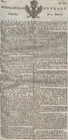 Middelburgsche Courant 1779-01-05