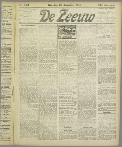 De Zeeuw. Christelijk-historisch nieuwsblad voor Zeeland 1919-08-12