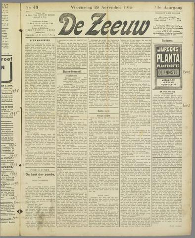 De Zeeuw. Christelijk-historisch nieuwsblad voor Zeeland 1919-11-19