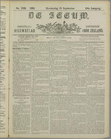 De Zeeuw. Christelijk-historisch nieuwsblad voor Zeeland 1910-09-15