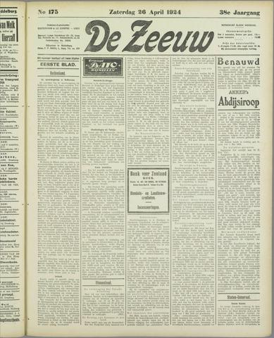 De Zeeuw. Christelijk-historisch nieuwsblad voor Zeeland 1924-04-26