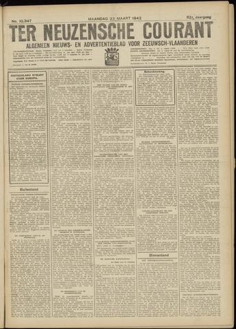 Ter Neuzensche Courant. Algemeen Nieuws- en Advertentieblad voor Zeeuwsch-Vlaanderen / Neuzensche Courant ... (idem) / (Algemeen) nieuws en advertentieblad voor Zeeuwsch-Vlaanderen 1942-03-23