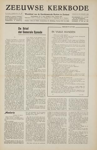 Zeeuwsche kerkbode, weekblad gewijd aan de belangen der gereformeerde kerken/ Zeeuwsch kerkblad 1956-03-23