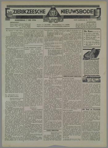 Zierikzeesche Nieuwsbode 1936-05-07