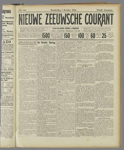 Nieuwe Zeeuwsche Courant 1914-10-01