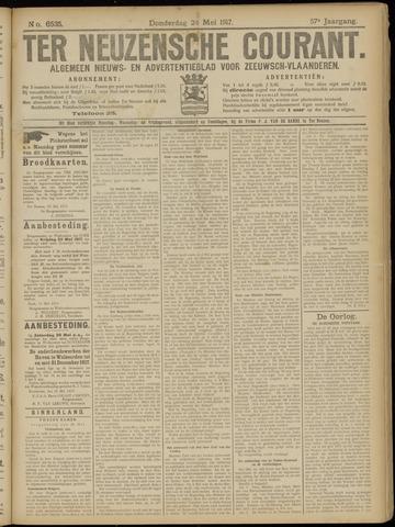 Ter Neuzensche Courant. Algemeen Nieuws- en Advertentieblad voor Zeeuwsch-Vlaanderen / Neuzensche Courant ... (idem) / (Algemeen) nieuws en advertentieblad voor Zeeuwsch-Vlaanderen 1917-05-24