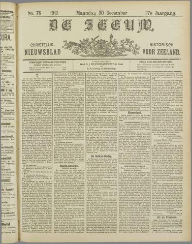 De Zeeuw. Christelijk-historisch nieuwsblad voor Zeeland 1912-12-30