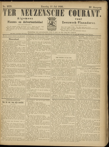Ter Neuzensche Courant. Algemeen Nieuws- en Advertentieblad voor Zeeuwsch-Vlaanderen / Neuzensche Courant ... (idem) / (Algemeen) nieuws en advertentieblad voor Zeeuwsch-Vlaanderen 1896-07-11
