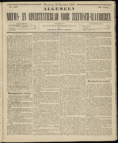 Ter Neuzensche Courant. Algemeen Nieuws- en Advertentieblad voor Zeeuwsch-Vlaanderen / Neuzensche Courant ... (idem) / (Algemeen) nieuws en advertentieblad voor Zeeuwsch-Vlaanderen 1869-12-22