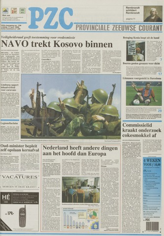 Provinciale Zeeuwse Courant 1999-06-11