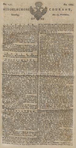 Middelburgsche Courant 1775-11-25