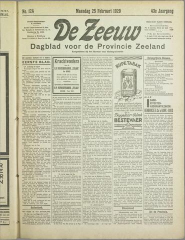 De Zeeuw. Christelijk-historisch nieuwsblad voor Zeeland 1929-02-25