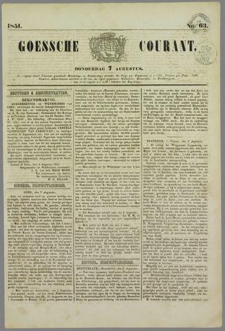 Goessche Courant 1851-08-07