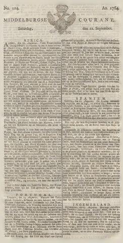 Middelburgsche Courant 1764-09-22