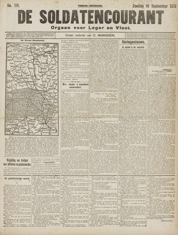 De Soldatencourant. Orgaan voor Leger en Vloot 1915-09-19