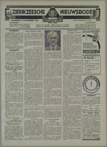 Zierikzeesche Nieuwsbode 1937-11-10