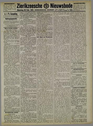 Zierikzeesche Nieuwsbode 1921-02-28