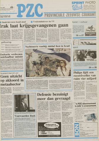Provinciale Zeeuwse Courant 1991-03-01