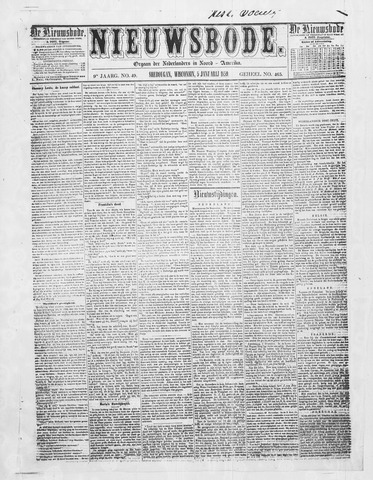 Sheboygan Nieuwsbode 1859