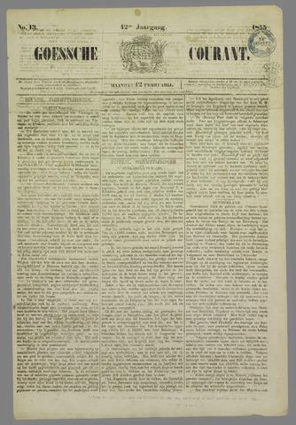 Goessche Courant 1855-02-12