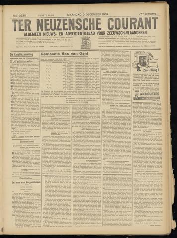 Ter Neuzensche Courant. Algemeen Nieuws- en Advertentieblad voor Zeeuwsch-Vlaanderen / Neuzensche Courant ... (idem) / (Algemeen) nieuws en advertentieblad voor Zeeuwsch-Vlaanderen 1934-12-03