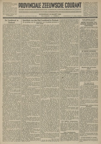 Provinciale Zeeuwse Courant 1942-03-25