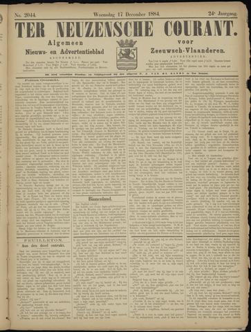 Ter Neuzensche Courant. Algemeen Nieuws- en Advertentieblad voor Zeeuwsch-Vlaanderen / Neuzensche Courant ... (idem) / (Algemeen) nieuws en advertentieblad voor Zeeuwsch-Vlaanderen 1884-12-17