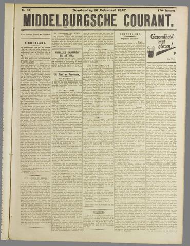 Middelburgsche Courant 1927-02-10