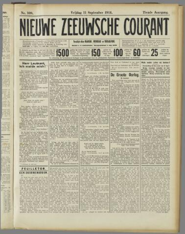 Nieuwe Zeeuwsche Courant 1914-09-11