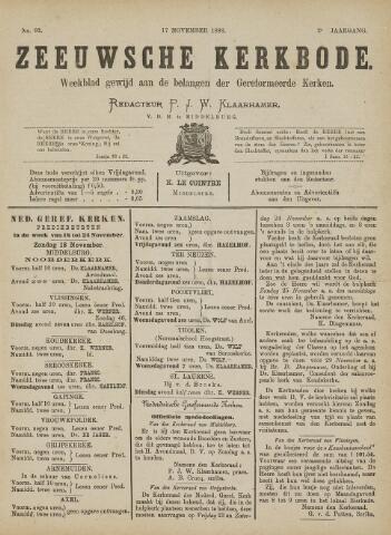 Zeeuwsche kerkbode, weekblad gewijd aan de belangen der gereformeerde kerken/ Zeeuwsch kerkblad 1888-11-17