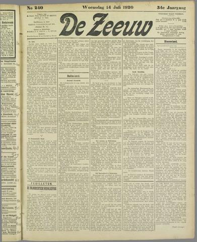 De Zeeuw. Christelijk-historisch nieuwsblad voor Zeeland 1920-07-14