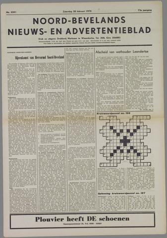 Noord-Bevelands Nieuws- en advertentieblad 1970-02-28