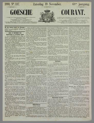 Goessche Courant 1881-11-19