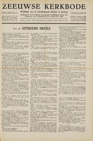 Zeeuwsche kerkbode, weekblad gewijd aan de belangen der gereformeerde kerken/ Zeeuwsch kerkblad 1951-06-15