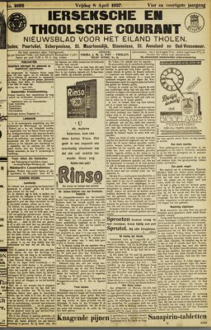 Ierseksche en Thoolsche Courant 1927-04-08